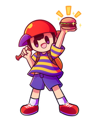 You found a hamburger in the trash by MegaBuster182