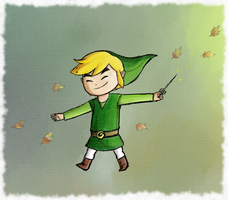 Wind waker: welcoming autumn by Icy-Snowflakes