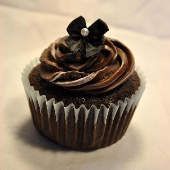 Chocolate Bow Cupcake 1 by TheRegalCupcake