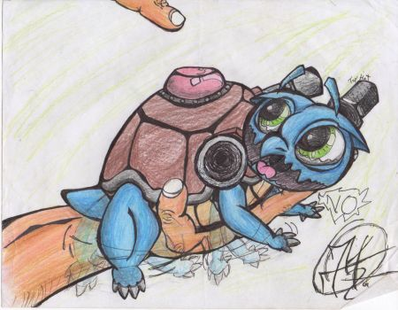Exploding Turtle/Blastiose (with a top hat) by MrPhysisThePen