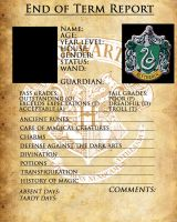 Slytherin Report Card by sarahsaintly