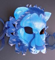 Blue Lion Leather Mask by merimask
