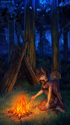 Overnight in the forest by Margony