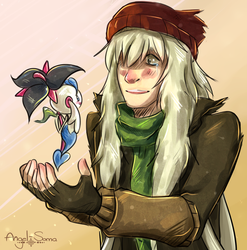 AZ and Floette by Angel-soma