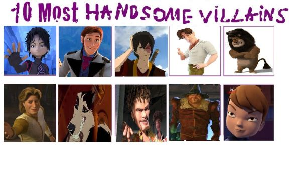 My top ten handsome Villains by mollymolata