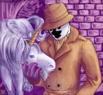 Rorschach with a unicorn by UnusualJuggernaut