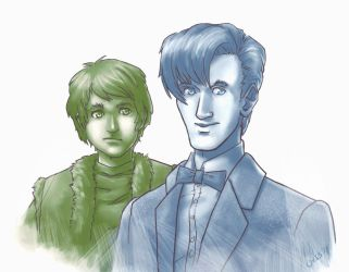 Doctor Who - Doctor and Jamie by famira