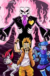 Mystery Skulls Poster by Bevintock