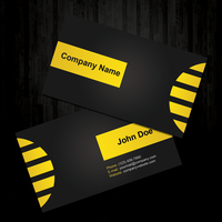 Black and Yellow Business Card by MathewT