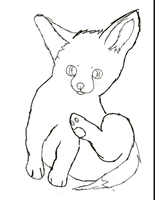 Fennec Lineart by FrostyFennec