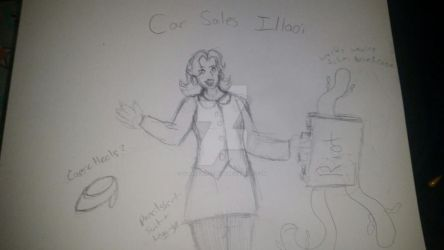 League of Legends Skin Concept: Car  Sales Illaoi by GoldenDemonWolf