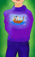 Day 1 - Boat On a Sweater by bookwormy606