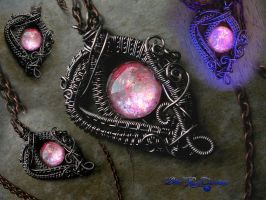 Pink Fairy Dream Drop - Purple Gunmetal by LadyPirotessa