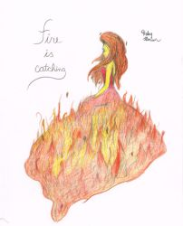 Flame Princess fire is catching by t1m3fr3ak