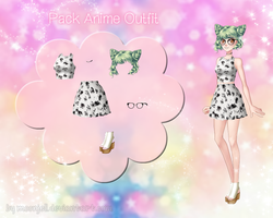 Amor Doce - Pack Anime Outfit by moonjell