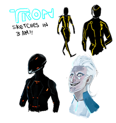 Tron sketches by monkeyoo