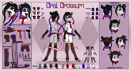 Opal Opossum Reference Sheet 2018 by JollyLink