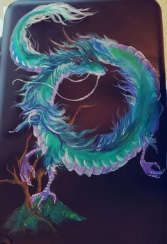 dragon painting  by Polkadotdiva