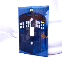 Tardis Light Switch Cover by thedustyphoenix
