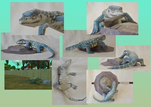 Zoo Tycoon Paper Collection - Nile Monitor by DrWheelieMobile
