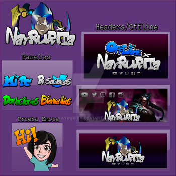 A pack from Twitch channel designs. by Nayrurita