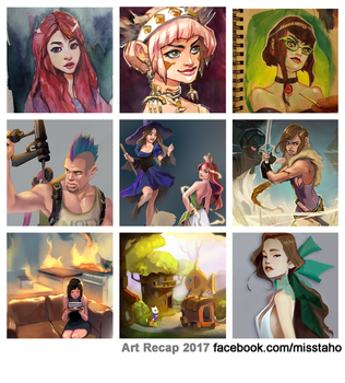 Art Recap 2017 by taho