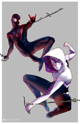 Gwen and Miles by Pryce14
