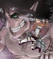 Rivaille x Eren by Dver