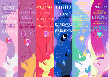 CMC + Princesses Bookmark Pack by DarkestSunset