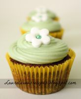 Chocolate cupcakes with cream cheese frosting by China-Dolly