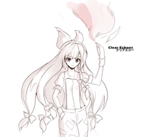Sketch : Mokou by ClearEchoes
