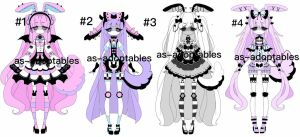 Pluffy Bunny Adoptables CLOSED by AS-Adoptables