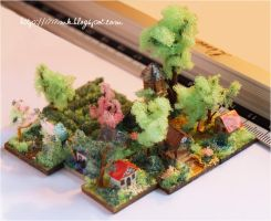 Micro scale...micro houses by 1717mk