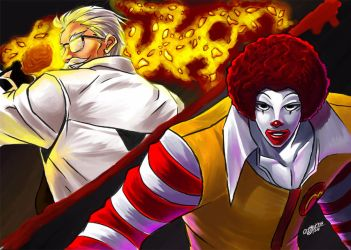 -The King of FastFoods 2002 UM- Colonel x Ronald by WolfHyde