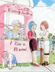 Trunks' Kissing Booth by genaminna