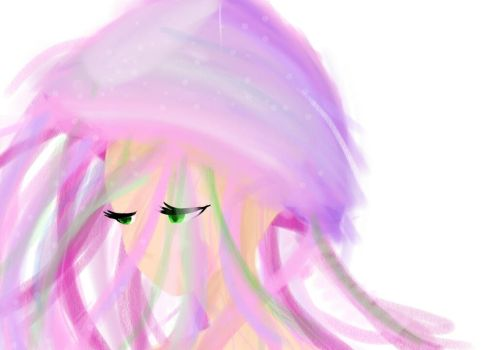 Jellyfish haired girl  by OCsArt
