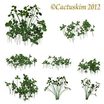 Clover Clumps_PNG_KL by cactuskim