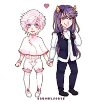 pagedoll couple commission for miokagv by AruOwlsArts