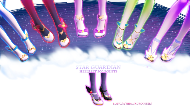 MMD DL  Star Guardian Heels Set   500 Points by Polygon-P