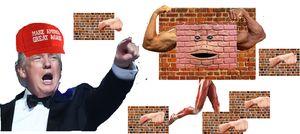 Trumps stand: another brick in the wall (revised) by yeewombocombo3000