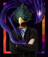 My Hero Academia: Fumikage Tokoyami by debandsketches