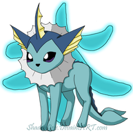 +: Vaporeon :+ by shadowjess
