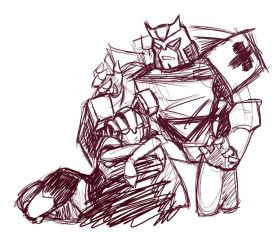 Ratchet and Arcee lulz by Kasumi9