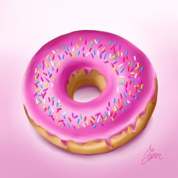 Donut digital painting by iamszissz