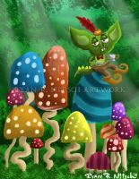 Troll and Mushrooms - Ryan R. Nitsch by RyanNitsch