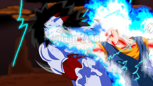 Vegito VS The King of Evil by Mitchell1406