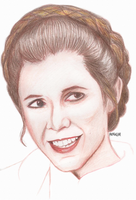 Carrie Fisher by laurahutton