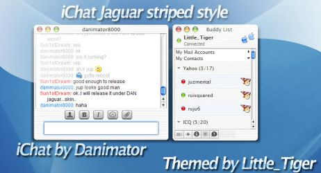iChat Jaguar striped Style by 1st-tiger