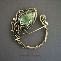 BROOCH FLOWER by KL-WireDream