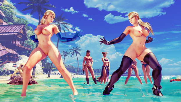 CAMMY - ZERO HOT SAMUS: TOPLESS AND NUDE V2 by Khaledantar666